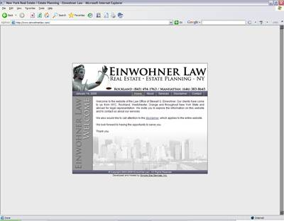 Screenshot Of Work Done For Einwohner Law